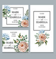 delicate wedding invitation with english vector image vector image