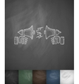dispute on the horns icon Hand drawn vector image vector image