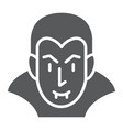 dracula glyph icon halloween and evil vampire vector image vector image