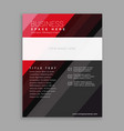 elegant red and black business flyer brochure vector image vector image