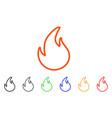 flame contour icon vector image