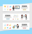 flat infographic horizontal banners vector image