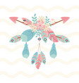flowers and feathers with arrows decoration boho