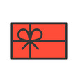 gift box christmas related style design icon vector image vector image