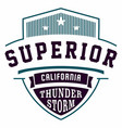 graphic design superior california for t-shirts vector image vector image