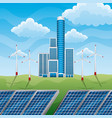 green eco factory building with electric solar vector image