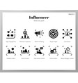 influencer icons solid pack vector image