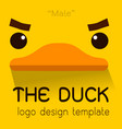 male duck flat logo vector image
