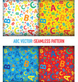 multicoloured abc letter background seamless set vector image vector image