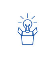 new idea line icon concept new idea flat vector image vector image