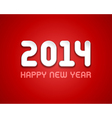 New year - 2014 message design vector image vector image