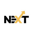 next initials letter business and tech logo vector image vector image