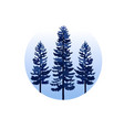 pine tree in classic blue color vector image