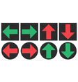 Pixel arrows icons vector image vector image