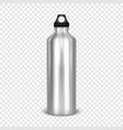 realistic 3d empty glossy metal water vector image vector image