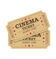 retro cinema tickets vector image vector image