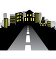 Road to City Silhouette vector image vector image