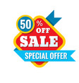 sale 50 off - concept in flat vector image vector image
