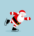 Santa Claus skating vector image