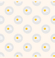 scrambled eggs on the plate seamless pattern vector image