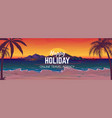 sea beach sunset ocean coast landscape travel vector image
