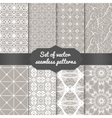 Set of abstract geometric pattern backgrounds vector image