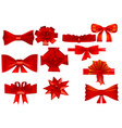 set of various bows vector image vector image
