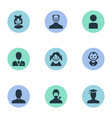 set simple avatar icons vector image