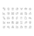 set simple icons marketing vector image
