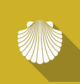 shell flat icon vector image vector image