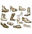 shoes of dreams vector image