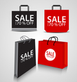 Shopping paper Black and red bag vector image