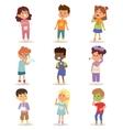 Sick children set vector image vector image