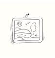 Sketched desktop picture icon vector image