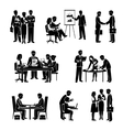 Teamwork Icons Black vector image vector image