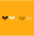 three house it is white icon vector image