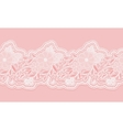 White and pink seamless lace tape on pink vector image vector image