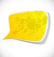 Yellow grunge speech label design vector image vector image