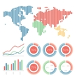 Infographic Elements World Map vector image