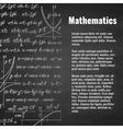Abstract math school background with copy space vector image