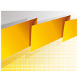 abstract yellow banner vector image vector image
