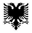 albanian eagle vector image vector image