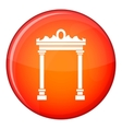 Arch icon flat style vector image vector image