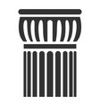 architectural ancient column icon design of vector image