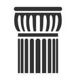 architectural ancient column icon design vector image vector image