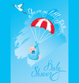baby shower card invitation etc stork vector image vector image