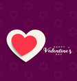 background of valentines day celebration with red vector image