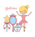 ballerina in dance for ballet school or studio vector image