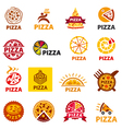 big set of logos pizza vector image