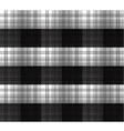 Black and White tartan plaid background vector image